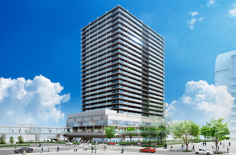 プラウドタワー堺東(堺東駅南地区再開発)完成イメージ図 01