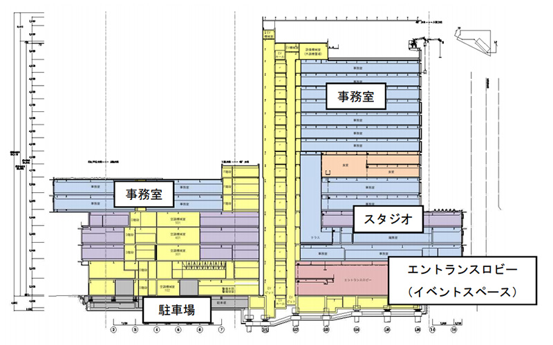 読売テレビ新社屋 概要図