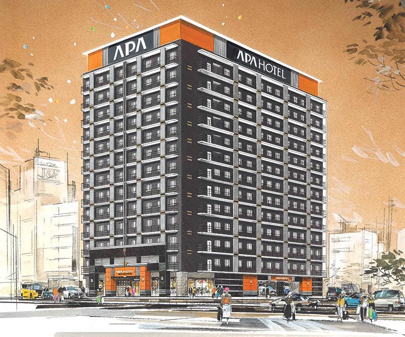 アパホテル〈なんば南 恵美須町駅〉完成イメージ図