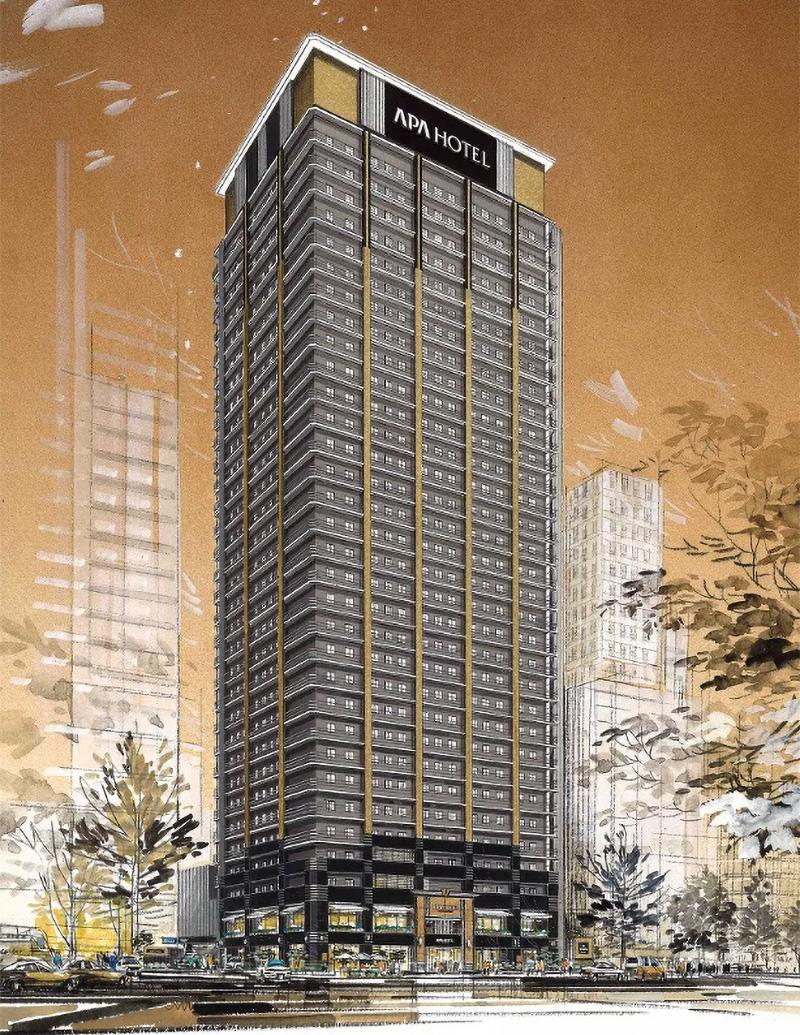 アパホテル&リゾート 御堂筋本町駅タワー 完成イメージ図