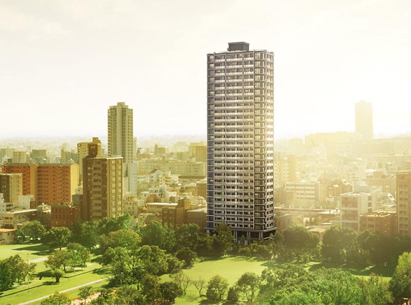 シエリア大阪上町台パークタワー 完成イメージ図