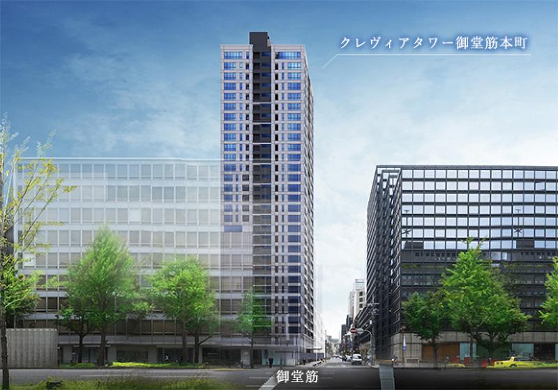 クレヴィアタワー御堂筋本町 完成イメージ図