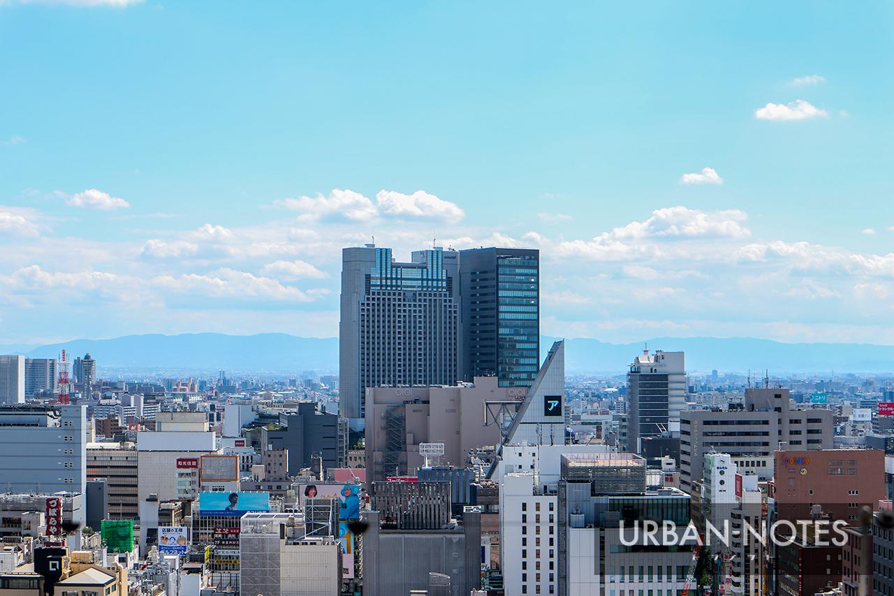 大丸心斎橋店北館 屋上庭園からの眺め 南海なんば駅方面 2019年9月