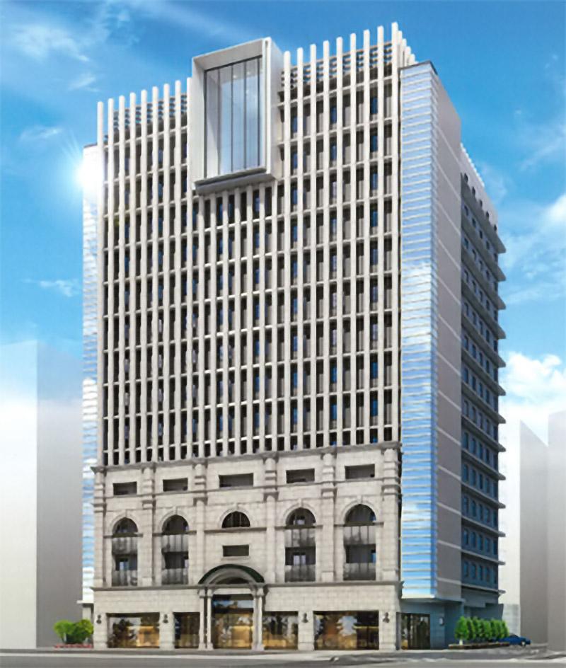 (仮称)堂島ホテル建替計画 アロフトホテル 完成イメージ図