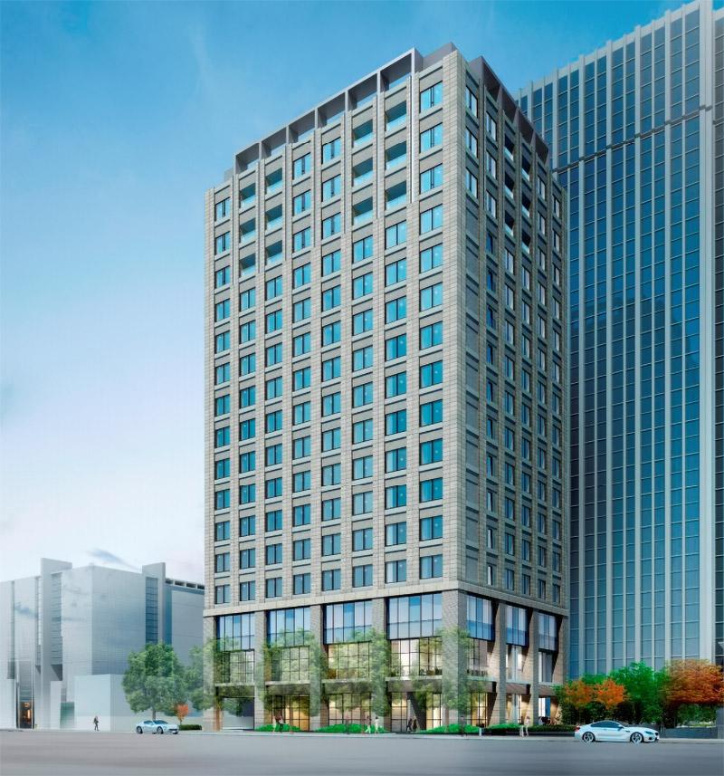 (仮称)堂島浜プロジェクト パレスホテル系 完成イメージ図