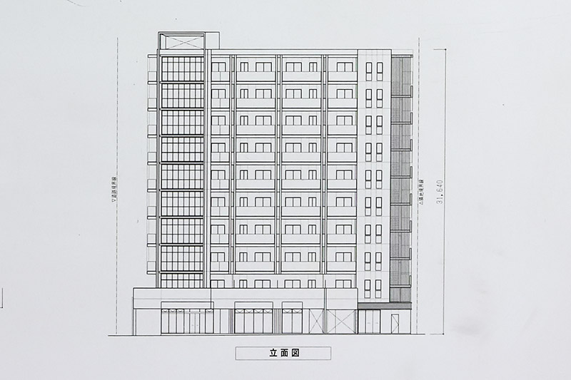 (仮称)西区江戸堀1丁目PJ 立面図