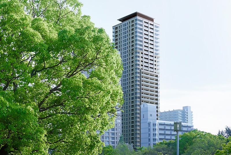 グランドメゾン上町台 ザ・タワー 完成イメージ図