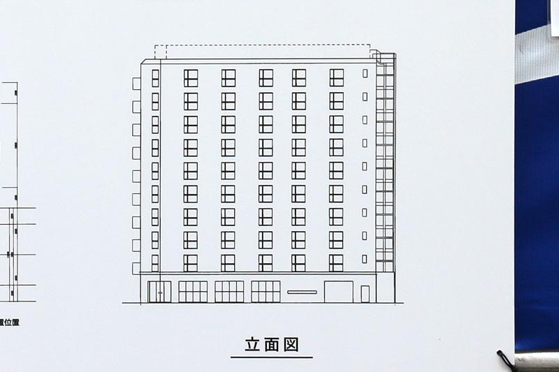 HOTEL CORDIA OSAKA 本町(仮称) 立面図