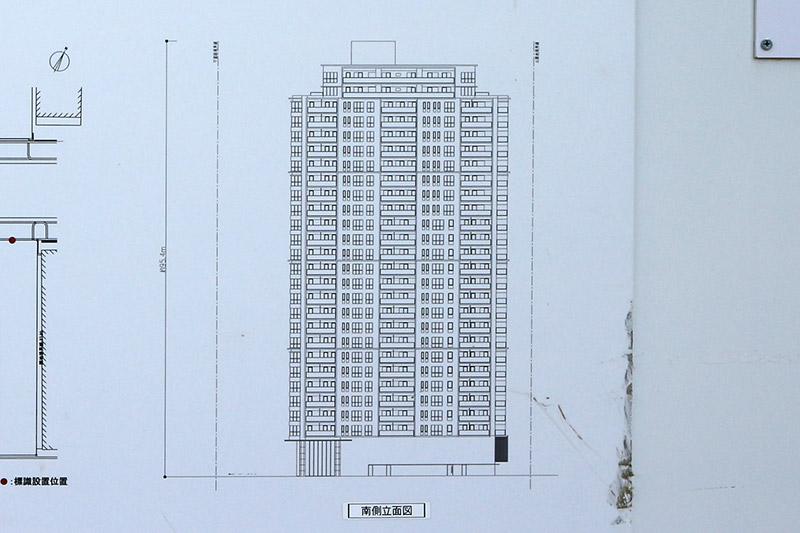 (仮称)西区京町堀2丁目プロジェクト 立面図