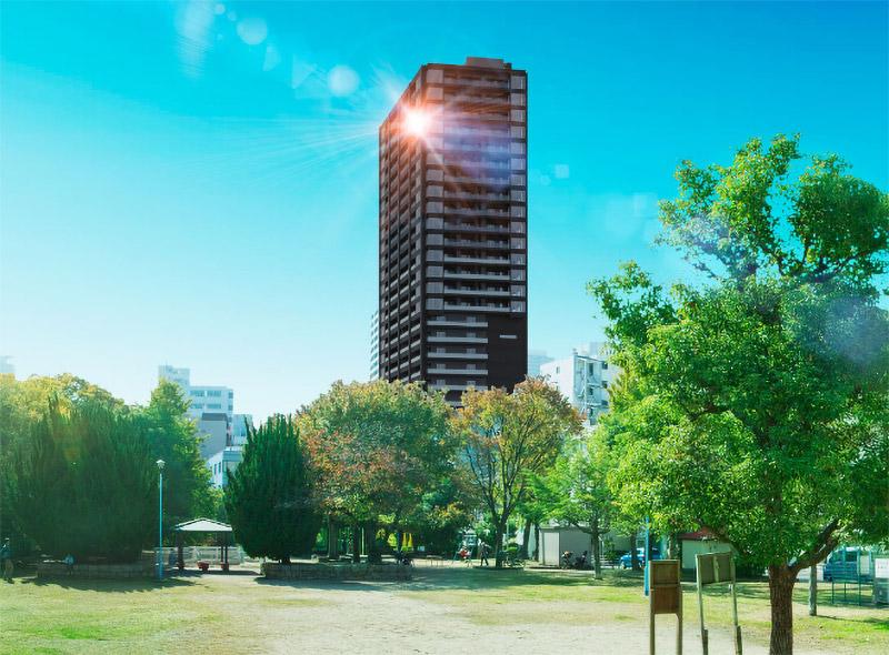 ピアッツァタワー上本町EAST 完成イメージ図