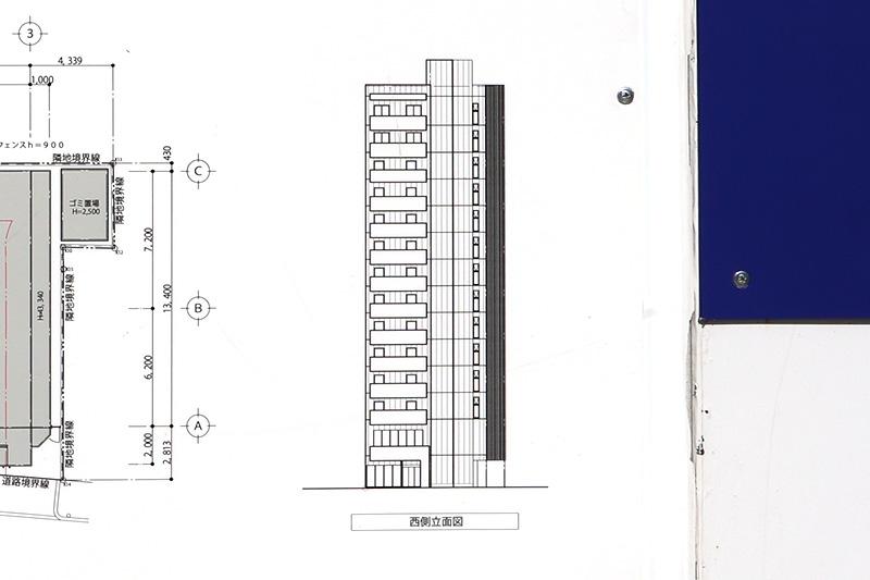 TAKUTO HOTEL OSAKA OTEMON メディカルサポートホテルPJ 立面図
