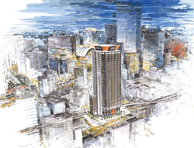 (仮称)アパホテル&リゾート 梅田駅タワー 完成イメージ図