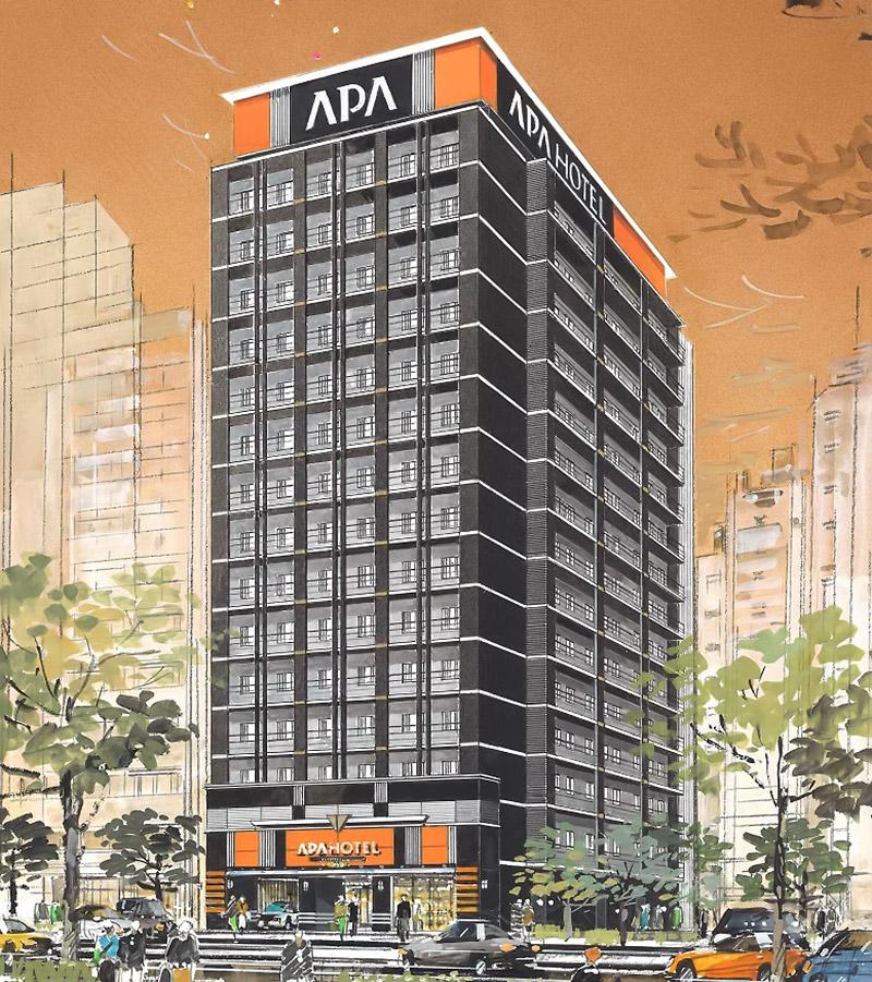 アパホテル大阪天満橋駅前 完成イメージ図