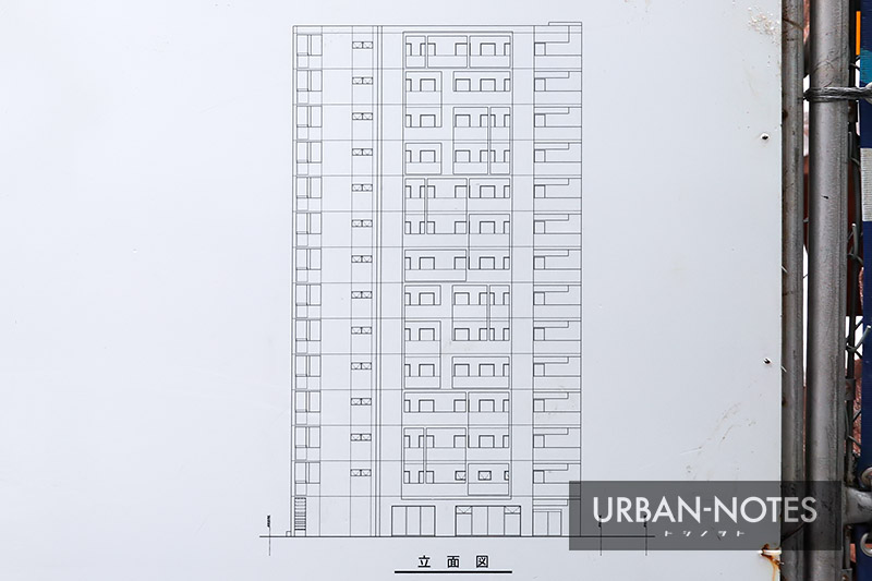 (仮称)道頓堀2丁目計画 立面図