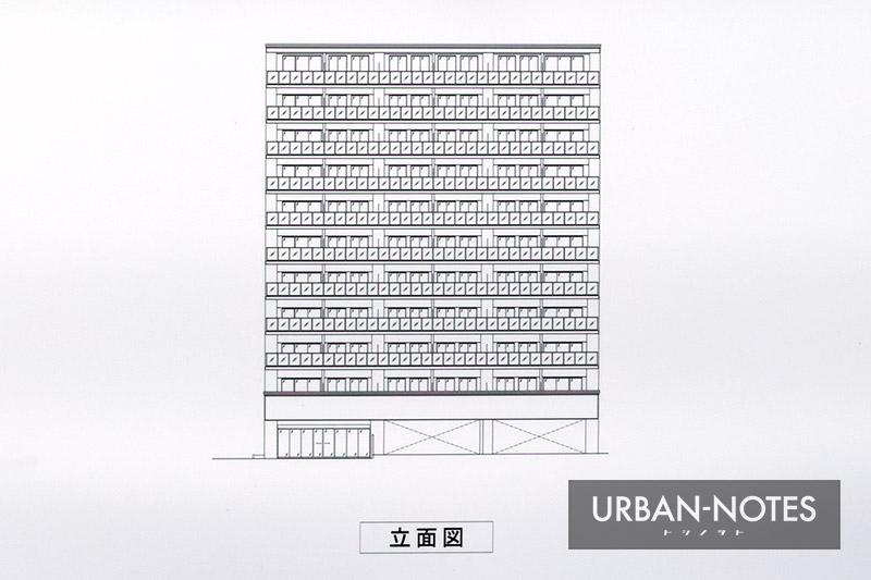 (仮称)大阪市福島区鷺洲5丁目プロジェクト 立面図