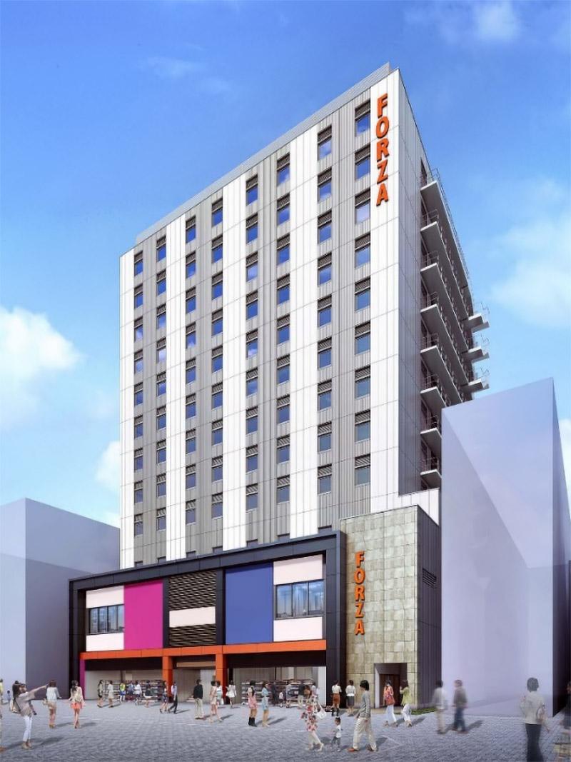 (仮称)ホテルフォルツァ大阪道頓堀 中央区道頓堀1丁目プロジェクト 完成イメージ図