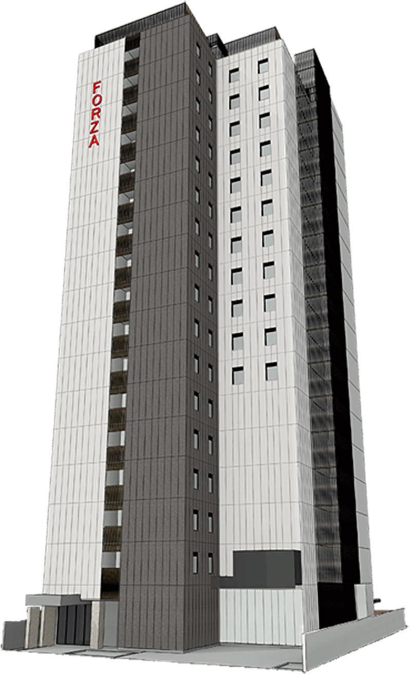 ホテルフォルツァ大阪北浜 完成イメージ図