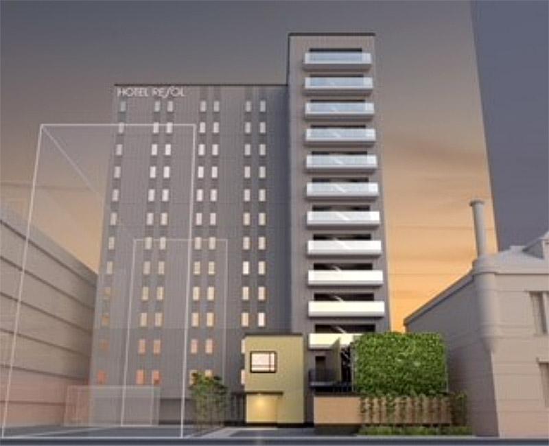 (仮称)大阪市中央区高麗橋二丁目プロジェクト (ホテルリソルトリニティ) 完成イメージ図
