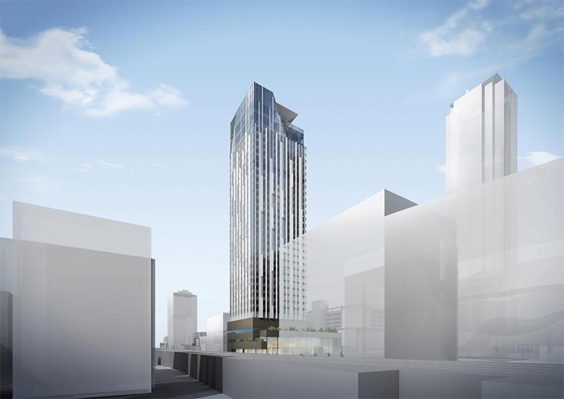 (仮称)難波中二丁目開発計画A敷地 センタラ・ホテル&リゾート 完成イメージ図