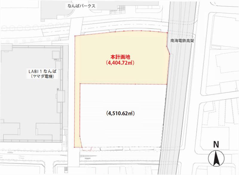 (仮称)難波中二丁目開発計画A敷地 センタラ・ホテル&リゾート 敷地計画