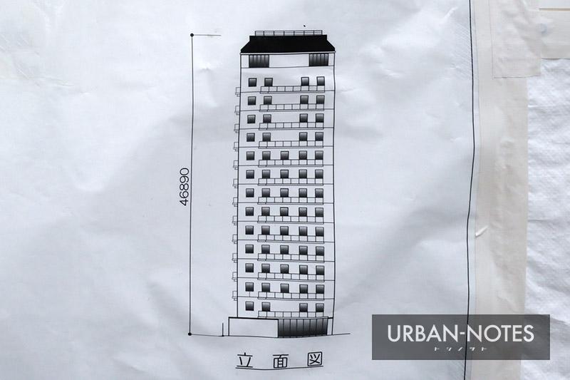 (仮称)難波二丁目ホテル 立面図