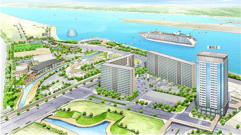 咲洲コスモスクエア地区 複合一体開発用地 完成イメージ図