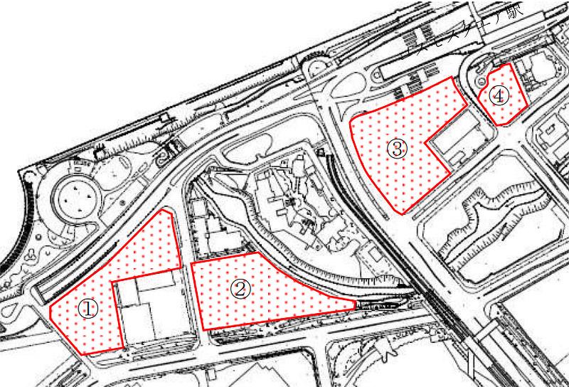 咲洲コスモスクエア地区 複合一体開発用地 位置図