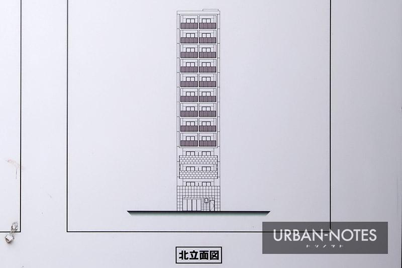(仮称)エスリード浪速区恵美須西3丁目 新築工事 立面図