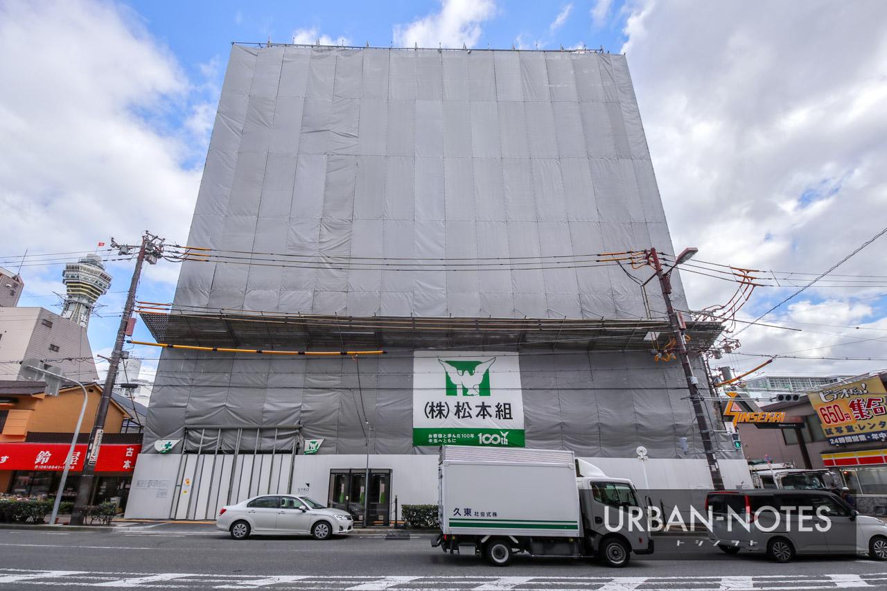(仮称)浪速区恵美須東二丁目ホテルPJ 新築工事 2019年10月 02