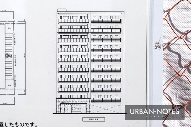 (仮称)プレサンス中央区高津三丁目 立面図