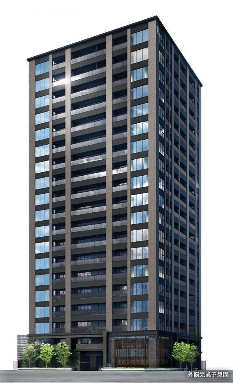 ワコーレ大阪新町タワーレジデンス 完成イメージ図