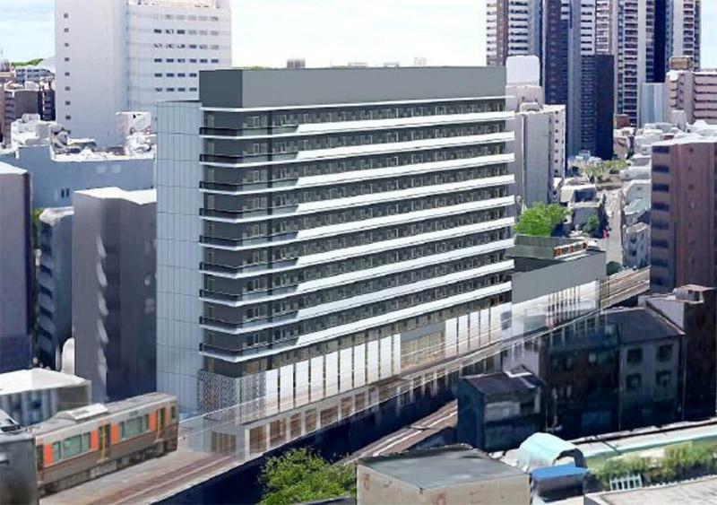 福島5丁目・7丁目共同開発計画 ホテル阪神アネックス 完成イメージ図