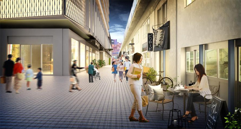 福島5丁目・7丁目共同開発計画 ふくまる通り57 完成イメージ図