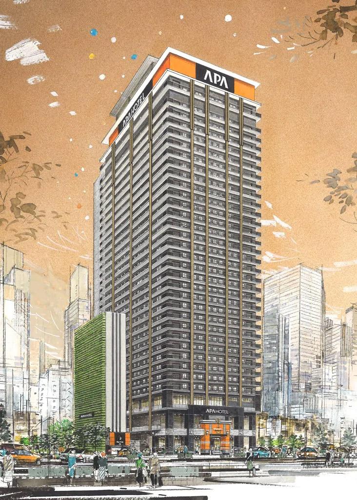 アパホテル&リゾート 大阪梅田駅タワー 完成イメージ図2