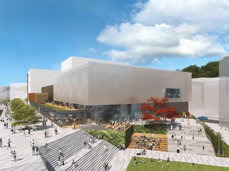 (仮称)箕面船場駅前地区まちづくり拠点施設整備運営事業 複合公共施設(文化ホール) 完成イメージ図
