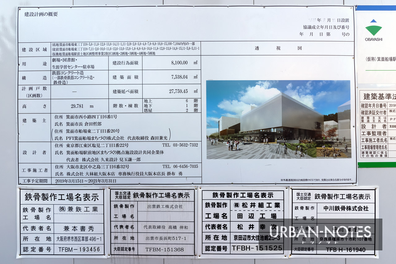 (仮称)箕面船場駅前地区まちづくり拠点施設整備運営事業 建築計画のお知らせ