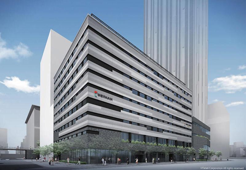 (仮称)ホテル京阪なんばグランデ(難波中二丁目開発C敷地) 完成イメージ図
