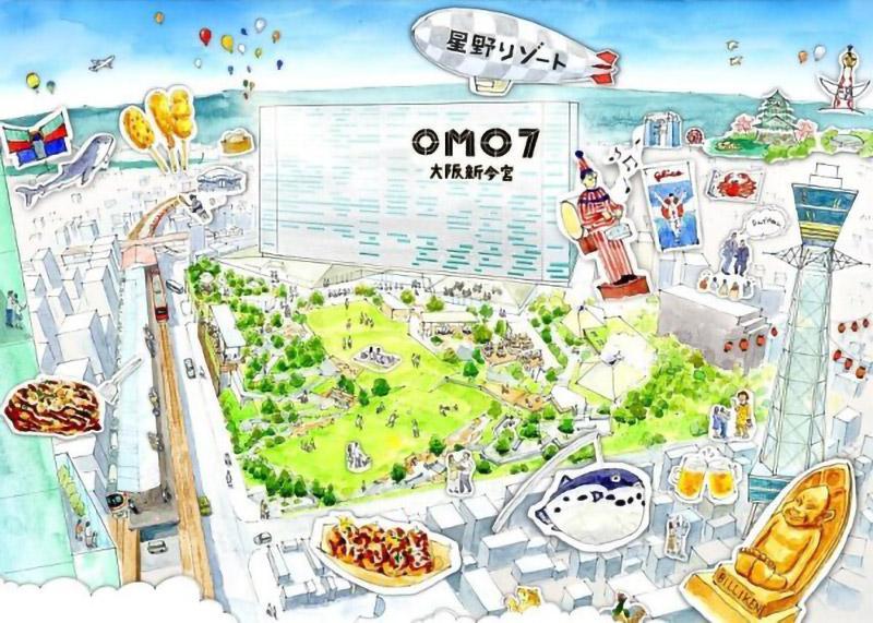 星野リゾート OMO7 大阪新今宮 完成イメージ図3