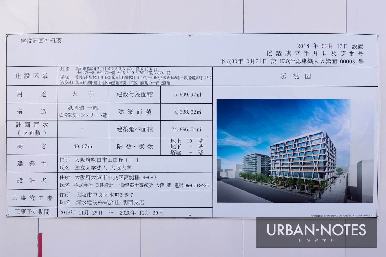 大阪大学箕面新キャンパス 建築計画のお知らせ
