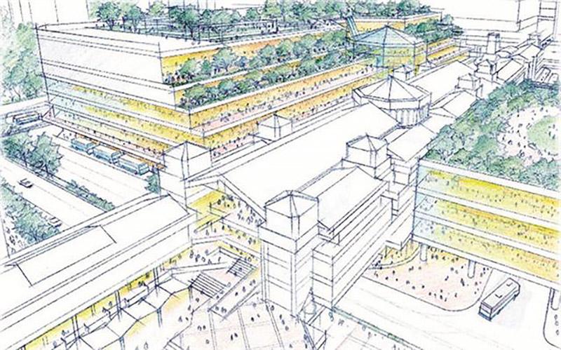 千⾥中央地区活性化基本計画 イメージ図