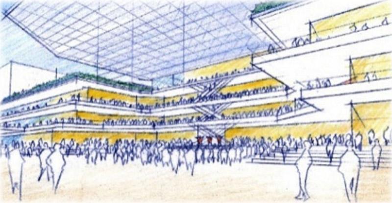 千⾥中央地区活性化基本計画 広場 イメージ図