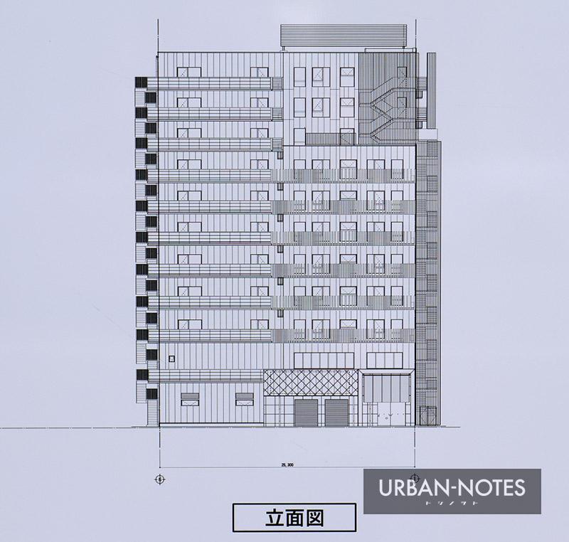 (仮称)昭和綜合管理株式会社 難波プロジェクト 立面図