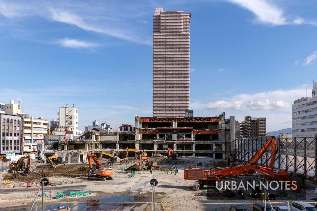 イオン京橋店 解体工事 2021年1月 02