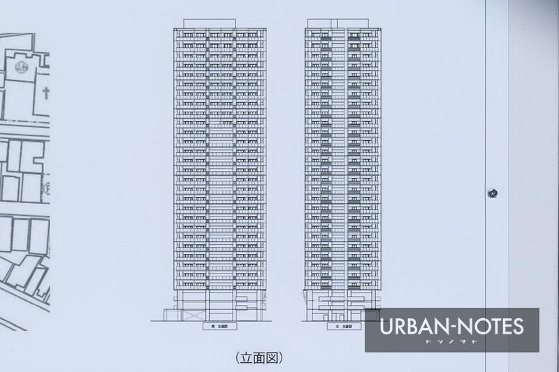 (仮称)大阪市福島区福島7丁目計画 立面図