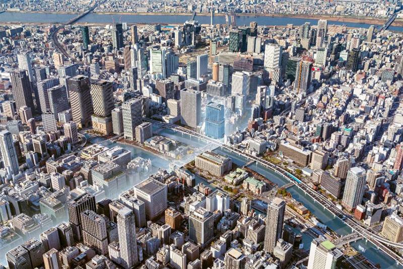 (仮称)大阪三菱ビル建替え計画 完成イメージ図 02