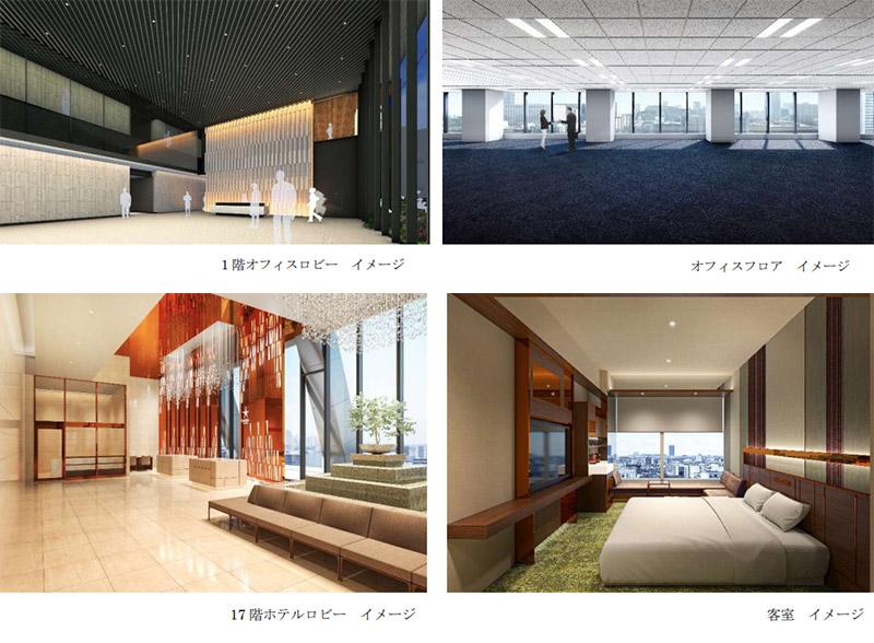 (仮称)大阪三菱ビル建替え計画 完成イメージ図 03