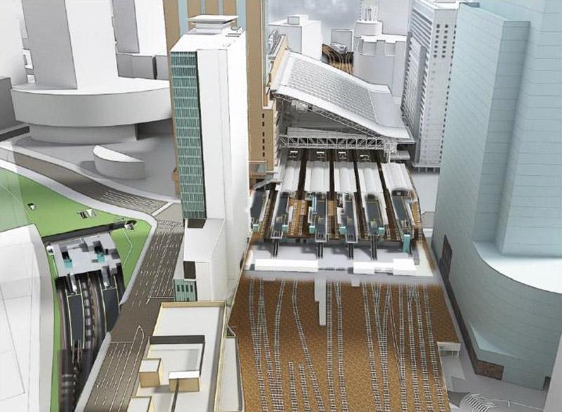 大阪駅西高架エリア開発 新駅ビル 完成イメージ図 02