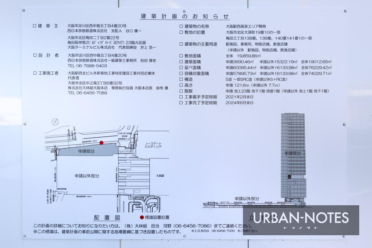 大阪駅西高架エリア開発 新駅ビル 建築計画のお知らせ