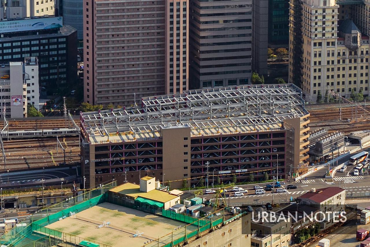 大阪ステーションシティ駐車場 増築前
