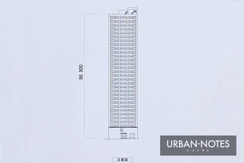 (仮称)中央区常盤町二丁目計画 立面図